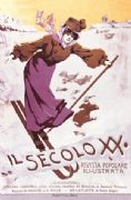 Vintage Il Secolo XIX Advertising Poster